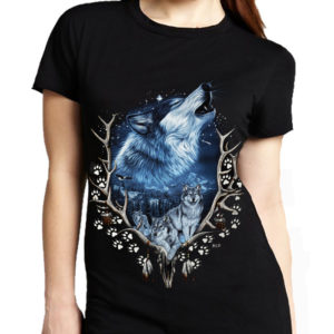Wolf Antlers T-Shirt