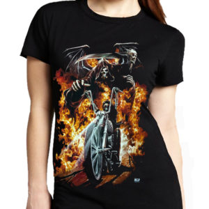 Biker In Flames T-Shirt