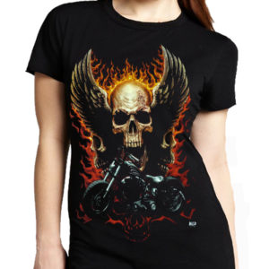 Biker On Fire T-Shirt