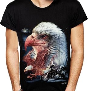 Balded Eagle Biker T-Shirt