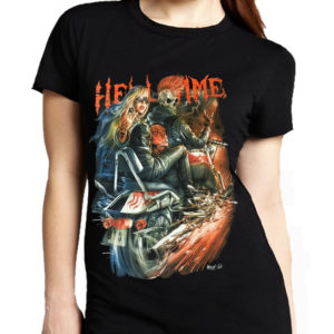 Hell Time Biker Lady T-Shirt