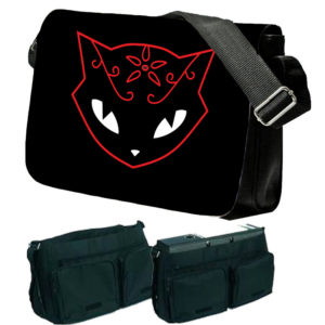 Emily The Strange Cat Messenger Bag
